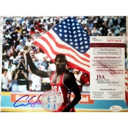 CARL LEWIS SIGNED PHOTO
