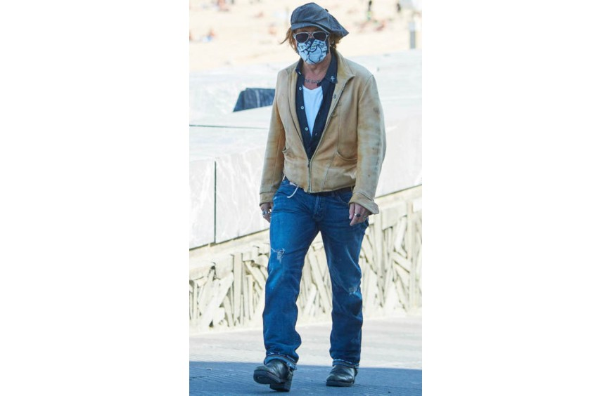 Johnny Depp arrives to San Sebastian (Spain) to promote his latest film.
