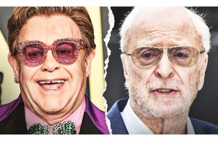 Elton John and Michael Caine star in a fun vaccine campaign